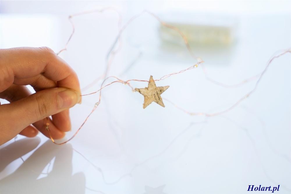 obkręcanie drucika na około gwiazdki, DIY