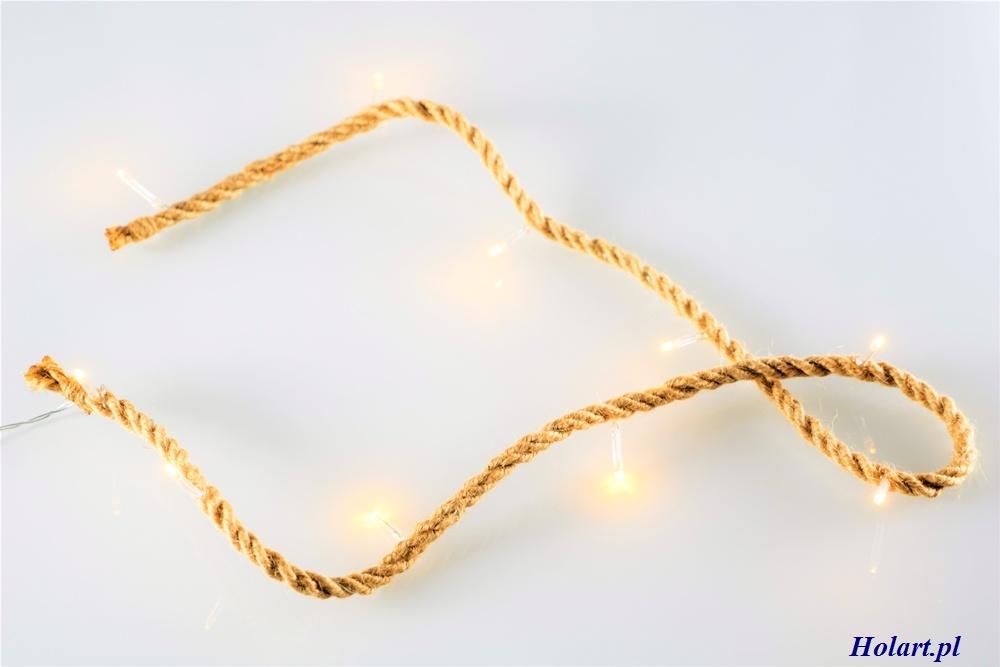 oryginalne oświetlenie ze sznurka