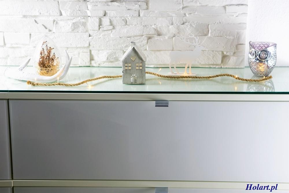 dekoracja ze sznurka i światełek ledowych,DIY