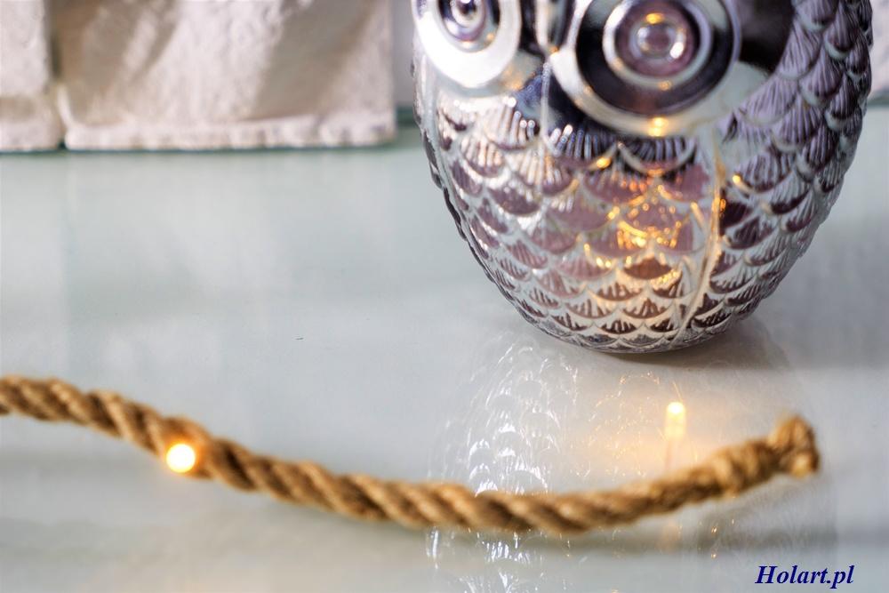 sznurek z juty jako eleganckie oświetlenie do wnętrza