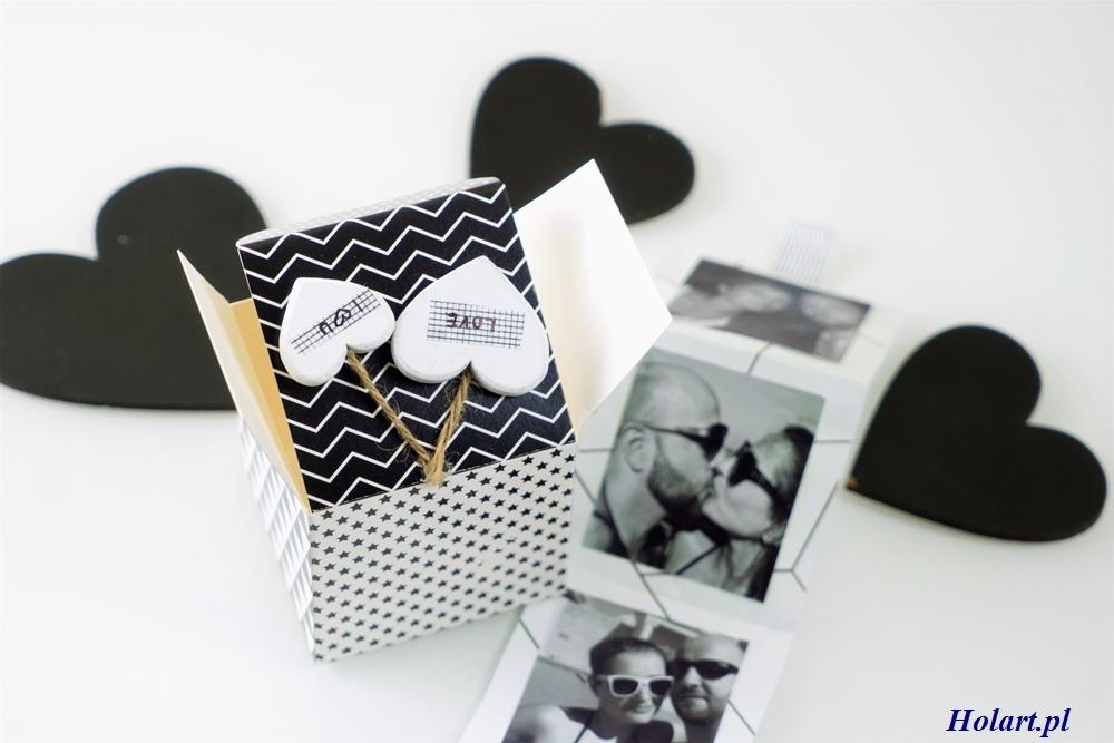 Walentynkowy kartonik ze zdjęciami, DIY