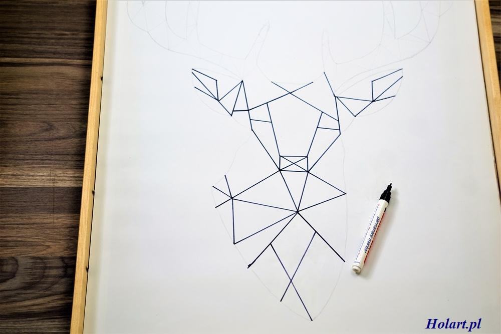geometryczny jeleń,diy