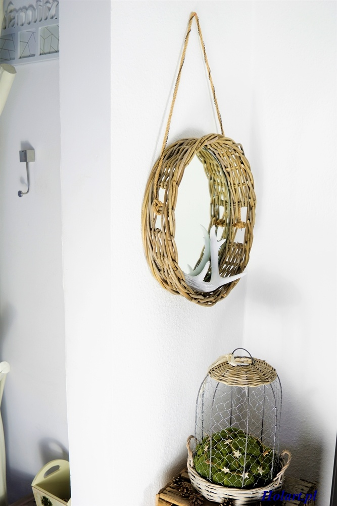 okrągłe lustro na sznurku,diy