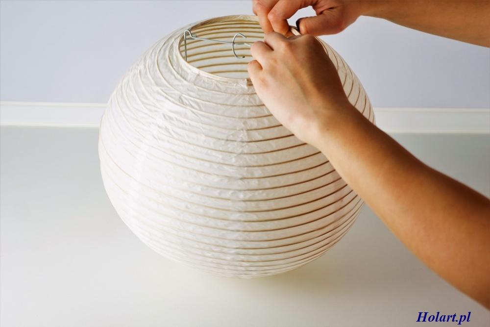 składanie papierowego lampionu,diy