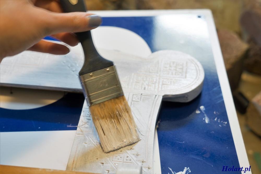malowanie farbą akrylową drewna,organizer,diy